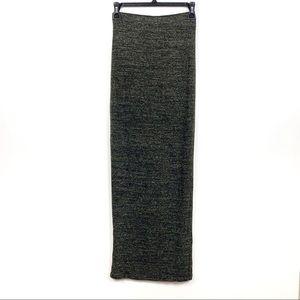 Zara Brown Mottled Pattern Full Length Maxi Skirt
